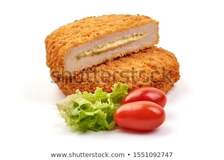 homemade meat cutlet cordon bleu Stock photo © tycoon