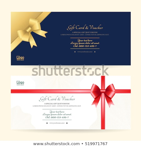 Silk Ribbons for Invitation or Complimentary Card Stock photo © robuart