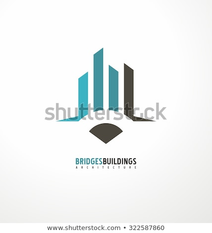 Brug bouw element symbool logo vector Stockfoto © blaskorizov