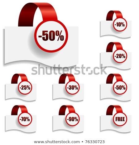 50 százalék árengedmény vásár akció háló Stock fotó © robuart