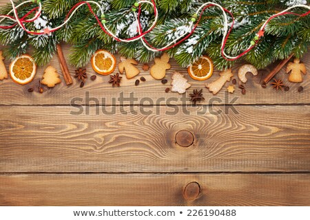 gingerbread on the wooden board stock photo © alex9500