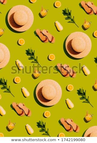 Swimming flat concept pattern Stock photo © netkov1