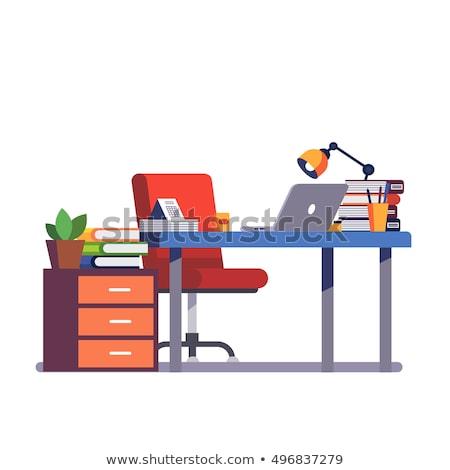 Spécialiste bureau travail portable séance clé Photo stock © RAStudio