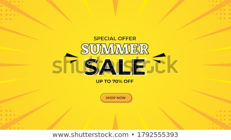 Summer Big Sale Banners Online Web Pages Vector Stock photo © robuart