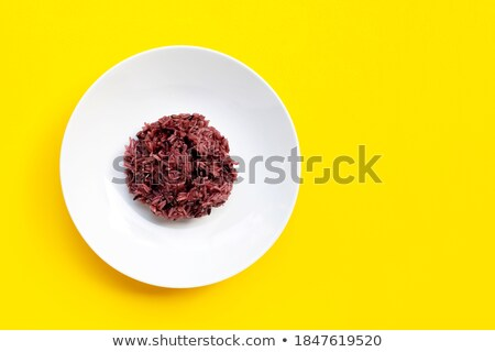 vermelho · tigela · orgânico · basmati · arroz - foto stock © DenisMArt