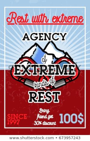 Kleur vintage agentschap extreme banner abstract Stockfoto © netkov1