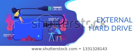 External hard drive concept banner header. Stock photo © RAStudio