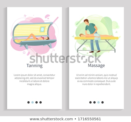 Spa procedure expert specialist vector Stockfoto © robuart