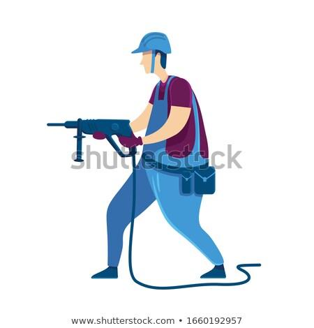 Sisak munkás szett dolgozik férfi háztartás Stock fotó © toyotoyo