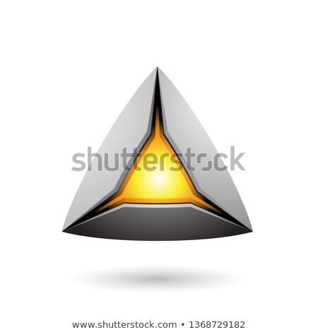серый пирамида ядро вектора иллюстрация Сток-фото © cidepix