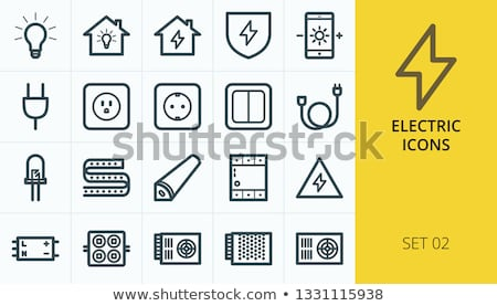 Electric extension icon Stock photo © angelp