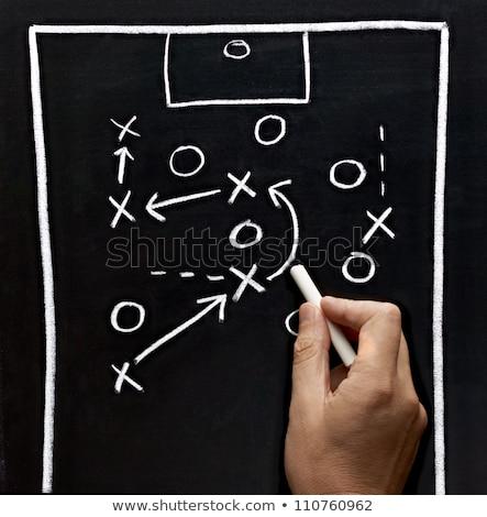 fútbol · entrenador · juego · estrategia · partido · de · fútbol · marcador - foto stock © matimix