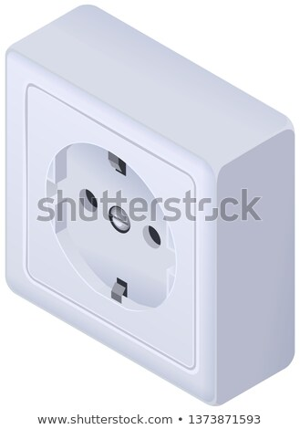 Power outlet wall socket euro standard isometric icon Stock photo © orensila