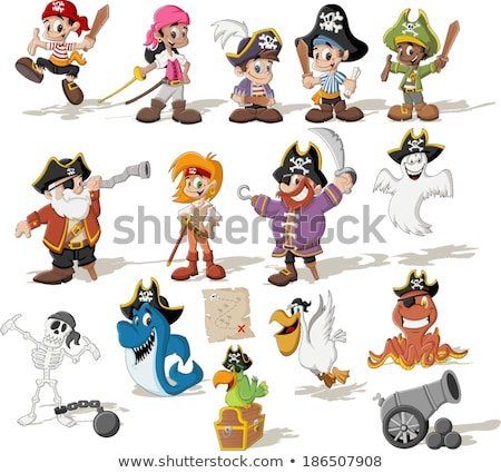 fantasy pirate characters cartoon illustration stock photo © izakowski