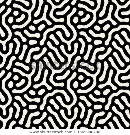 Bold circles textured seamless vector pattern. Stock photo © yopixart