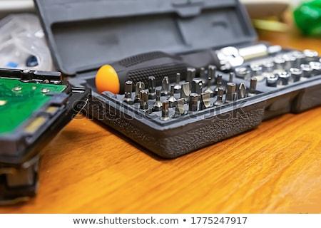 set of changeable screw driver nozzle stock photo © andreypopov