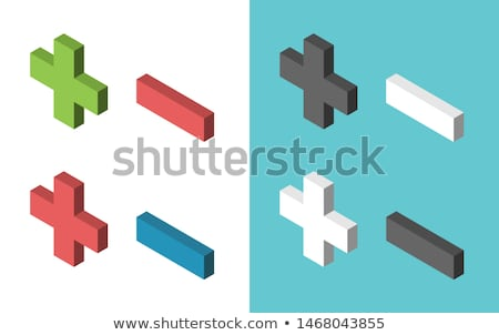 Set of subtraction template Stock photo © bluering