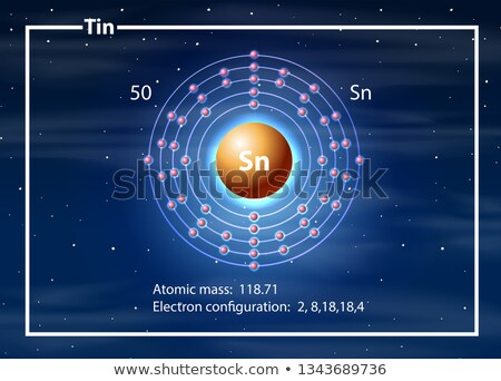 étain atome diagramme illustration design technologie Photo stock © bluering