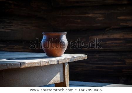 Cserépedények fiatal férfi dolgozik új agyag Stock fotó © pressmaster