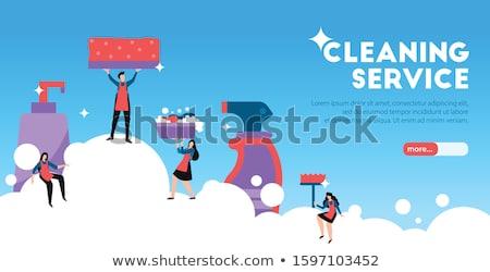 Comercial limpeza aterrissagem página companhia arrumado Foto stock © RAStudio