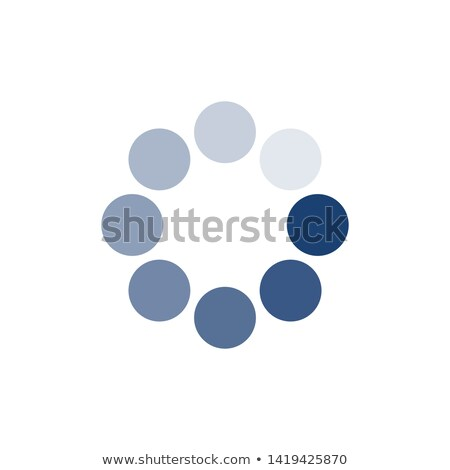 blue loading circle icon buffer loader or preloader donload or upload vector illustration isolate stock photo © kyryloff
