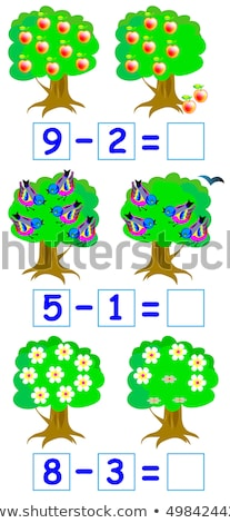 A math subtraction worksheet Stock photo © bluering