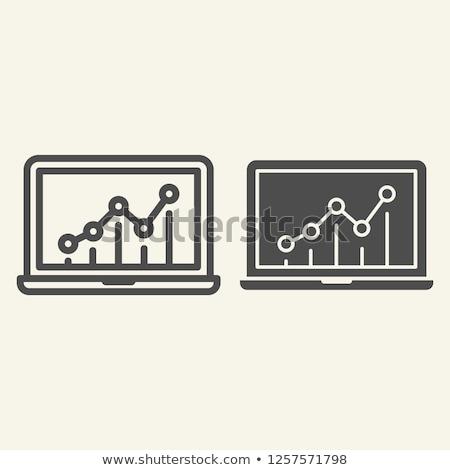 ストックフォト: ビジネス · 成長 · 行 · ウェブ · アイコン · 分析論