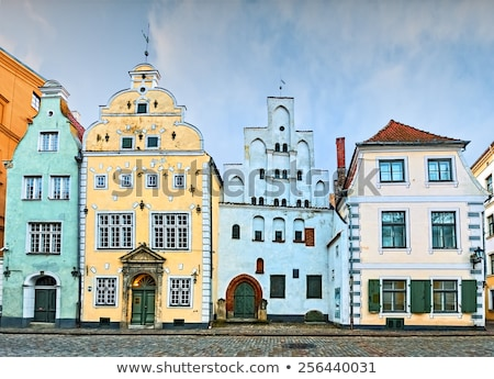 üç kardeşler Riga iki Bina karmaşık Stok fotoğraf © borisb17
