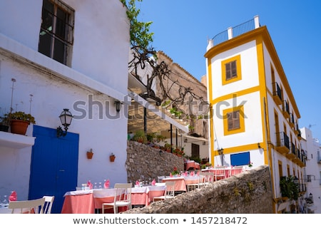 Ibiza Eivissa downtown Dalt Vila facades Stock photo © lunamarina