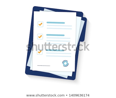 Office Paper Icon Isolated Vector. Document List Stock photo © robuart
