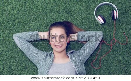 Hear In Green Grass Stock photo © AndreyPopov