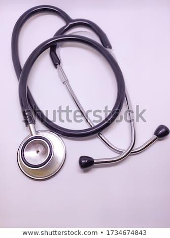 Stockfoto: Focus · medische · stethoscoop · arts · aanraken · patiënt