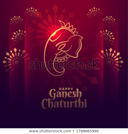 happy ganesh chaturthi festival event greeting design Stock photo © SArts