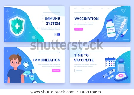 Time to Flu Vaccine Stock photo © -TAlex-