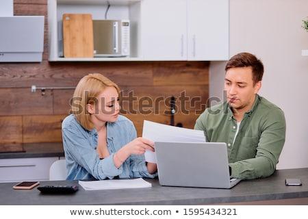 Homme d'affaires comptable travail financière investissement simulateur Photo stock © Freedomz