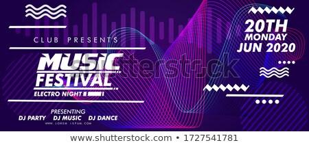 Flyer électronique festival de musique sonores événement fête Photo stock © Andrei_