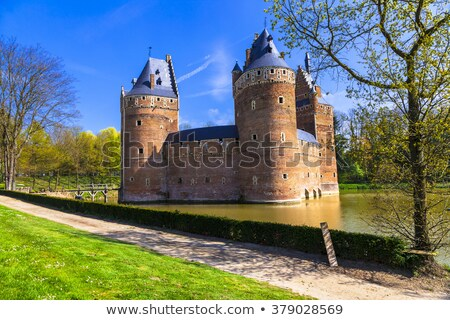Beersel Castle, Belgium Stock photo © borisb17