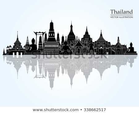 Részlet thai templom Bangkok Thaiföld textúra Stock fotó © galitskaya