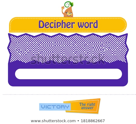 decipher word Visual Game Stock photo © Olena