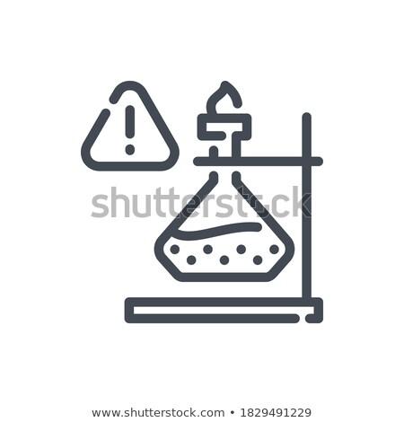 Laboratorium eksperyment palenie płynnych ilustracja projektu Zdjęcia stock © bluering