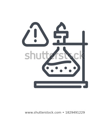 Lab experiment with burning liquid Stock photo © bluering