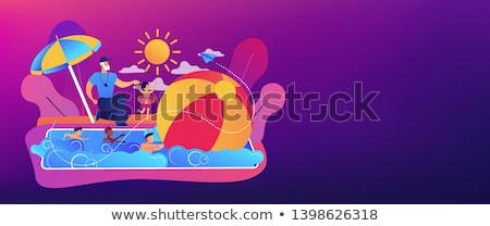 swim camp concept vector illustration stock photo © rastudio