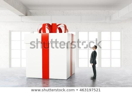 3D · biały · człowiek · szkatułce · odizolowany · oddać · biały - zdjęcia stock © alexmas