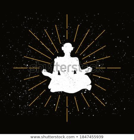 Retro hermit silhouette logo Stock photo © barsrsind