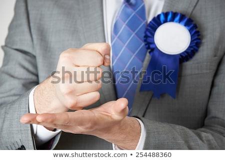 Közelkép politikus készít szenvedélyes beszéd férfi Stock fotó © HighwayStarz