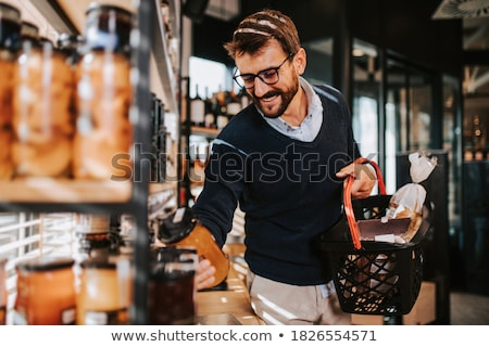 Man in supermarket Stock photo © jossdiim