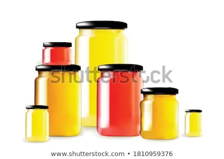 Recipiente vermelho boné armazenamento mel vetor Foto stock © pikepicture