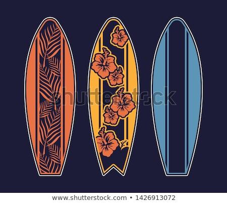 サーフボード 海 波 手のひら ポスター ベクトル ストックフォト © pikepicture