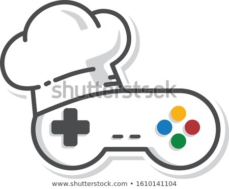 chef hat game console joystick controller vector Stock photo © vector1st
