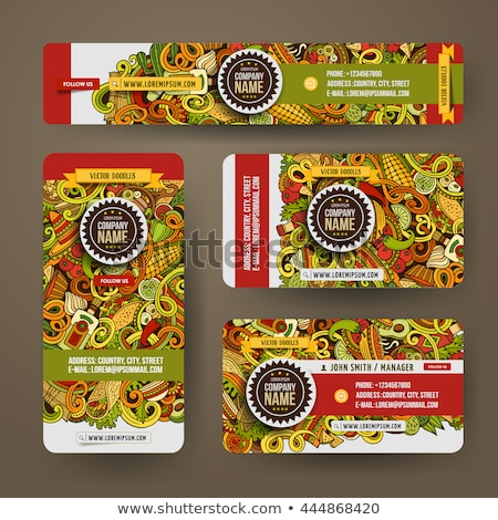 Mexican food hand drawn doodle banner. Cartoon detailed flyer. Stock photo © balabolka